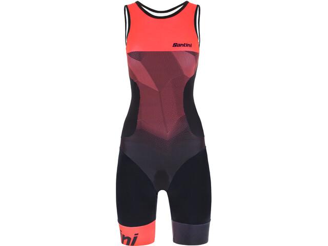 Santini Imago Kombinezon triathlonowy bez rękawów Kobiety, atomic orange